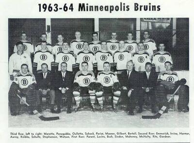 Minneapolis Bruins 1963-1964 Team Photo