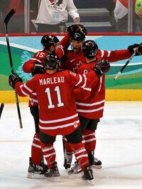 Canada vs Germany goal celebration crop