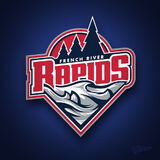 French River rapids logo