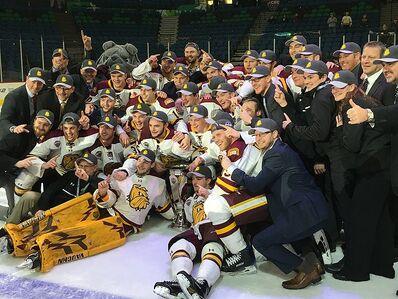 2017 NCHC champs Minnesota-Duluth Bulldogs