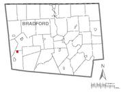 Alba, Pennsylvania Map
