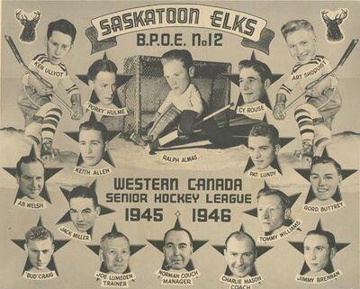 Saskatoon Elks 1945-46 WCSHL