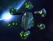 Alien Gunship Convoy