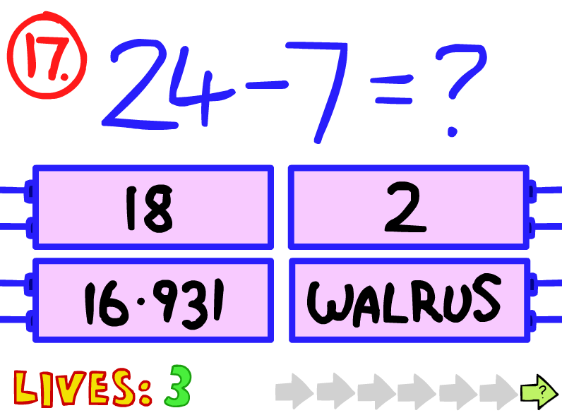 Question 17 (The Impossible Quiz)   The Impossible Quiz ...