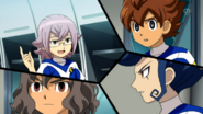 Manabe telling the Raimon trio he and the other 7 members are paid to play
