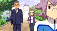 Manabe turning away from his parents