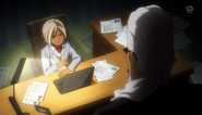 Gouenji talking to Kuroiwa