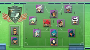 Inazuma Battle eleven formation