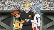 Edgar & Endou shaking hands before their match EP 87