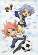 Shirou and Atsuya playing soccer as kids