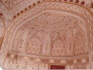 Taj interior dome paintings