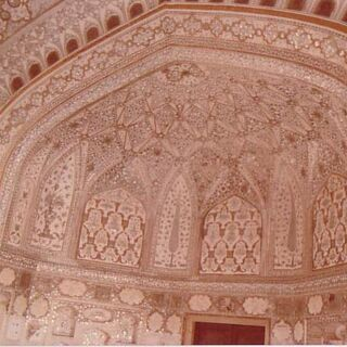 Taj Mahal - interior dome painting