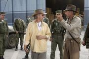 Pasha and Harrison on-set of Crystal Skull