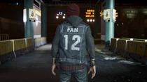 Delsin wearing 12th Fan vest