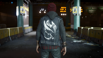 Delsin wearing Angel of Death vest