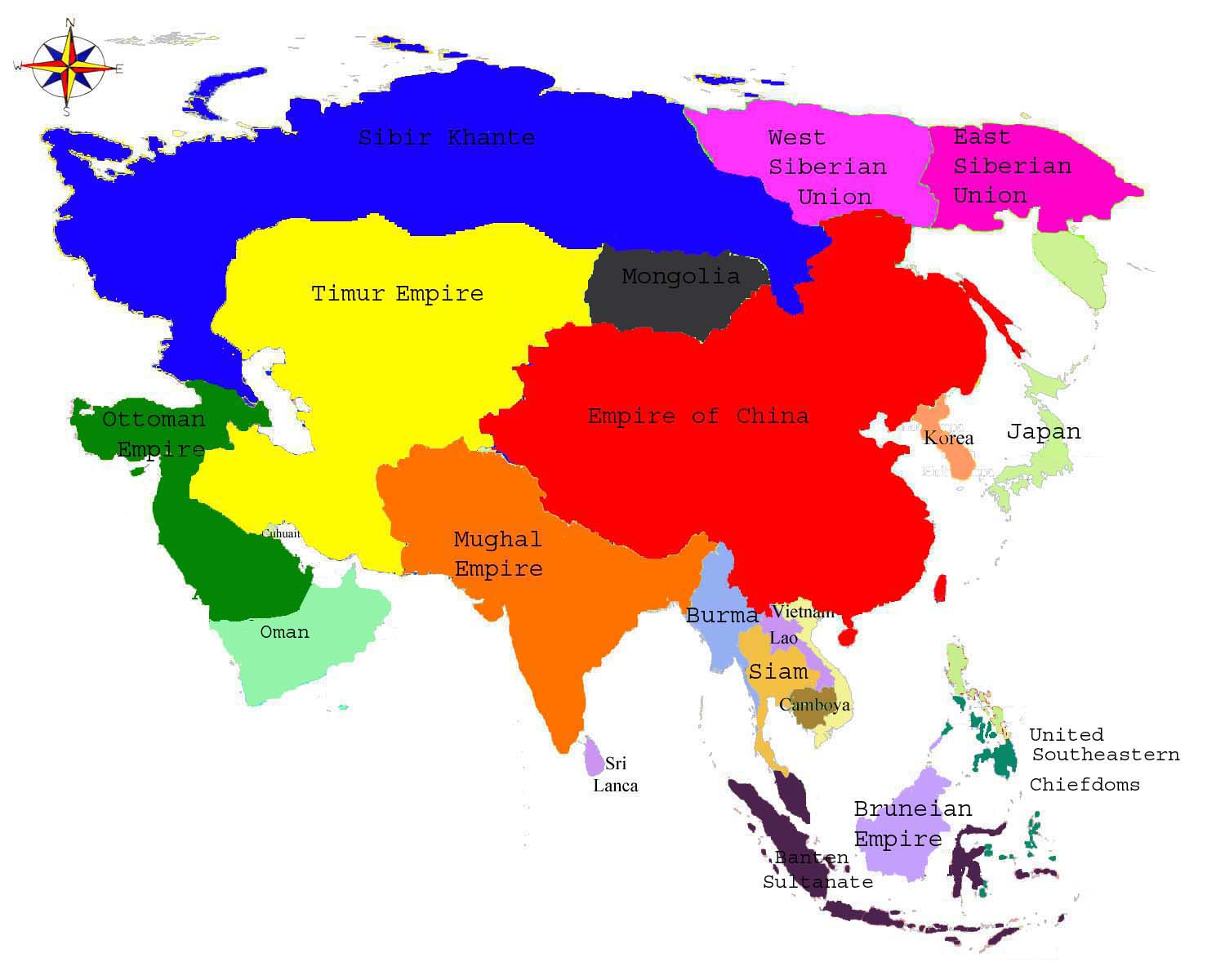 asien countries