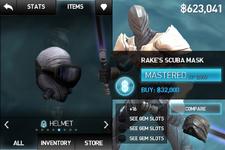 Rake's scuba mask