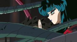 Kaguya prepares to destroy Naraku
