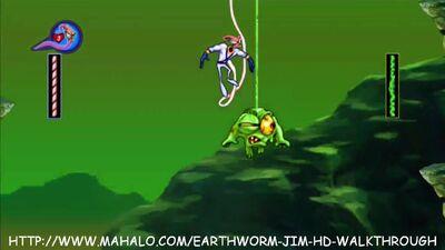 Mahalovideogames-EarthwormJimHDWalkthroughSnotAProblem456