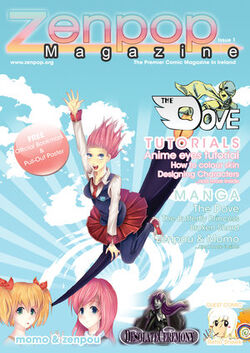 Zenpop Mag Cover Issue 1 by peachbite