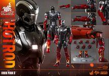 Hot-Toys-Iron-Man-3-Mark-XXII-Hot-Rod-Armor-014
