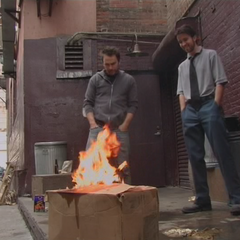 Charlie and Mac burn the box