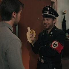 Charlie eats a banana