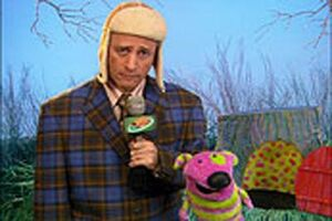 The Ground Hog Day News Reporter Reports Mel Guilty Of Meeting....Gertrude the Chicken-Ground Hog