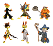 Dream mode Daxter characters