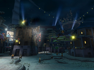 Slums at night from Jak II