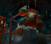 Precursor robot in Spider Cave
