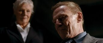 Quantum of Solace - M personally oversees the interrogation of Mr White