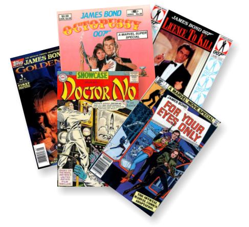 File:James Bond comics pile (film adaptations).png