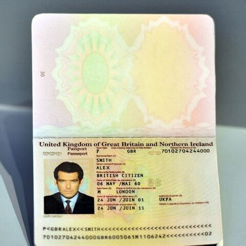 James Bond's fake passport from 2002's <i>Die Another Day</i>.