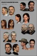 Head renders - Everything or Nothing