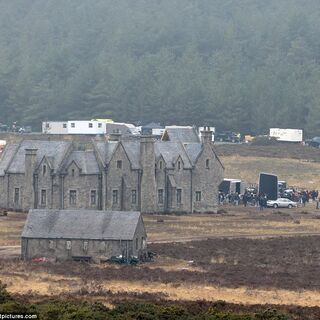 The Skyfall set from a distance.