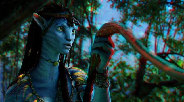 File:Neytiri making Tsahaylu with Seze 2 (red-cyan) photoshop.jpg