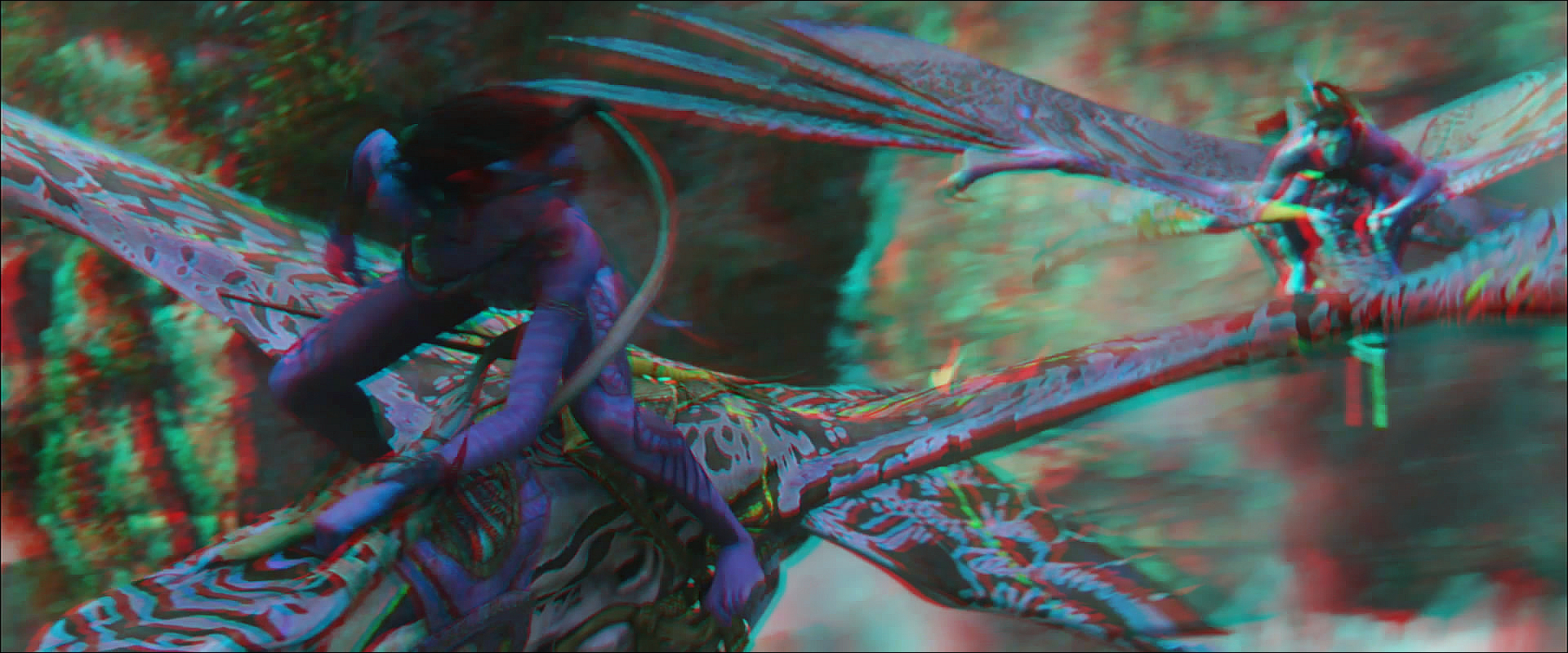 Image - Jake and Neytiri riding their Ikrans (red-cyan ...