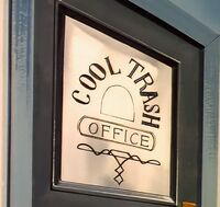 Cool trash office