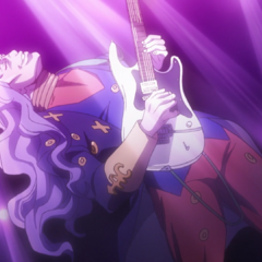 Akira expressing his dream to become a rock-star legend.