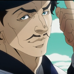 Zeppeli as portrayed in the Anime