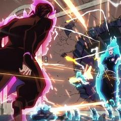 Keicho faces off against Josuke.