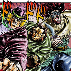 Speedwagon's first appearance in Ogre Street