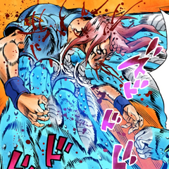 Johngalli A defeated by Jolyne