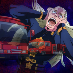 Mikitaka's allergic reaction to the siren.