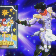 Star Platinum with the tarot card