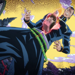 The Lock on Okuyasu, after feeling guilty for punching Tamami.
