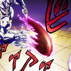 Flinging Josuke's blood at extreme speed, turning it into a sharp projectile.