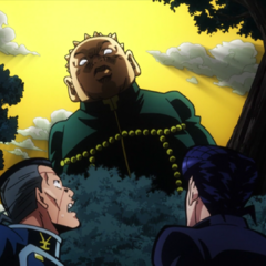 Okuyasu and Josuke notice <a href=