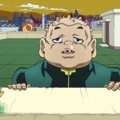 Taunting Josuke and Okuyasu after sabotaging the makeshift bridge.